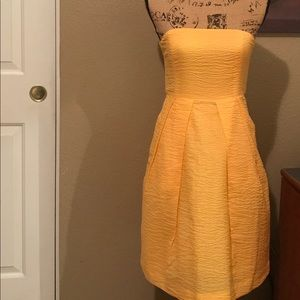 Strapless Yellow J. Crew Dress